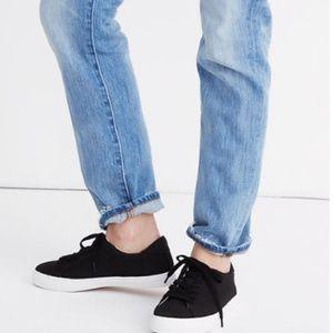 Madewell Black Sidewalk Low-Top Sneakers Canvas
